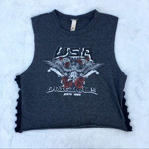 Francesca's USA Originals crop top
